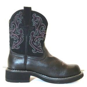 NEW Ariat Fatbaby II Purple Black Western Boots